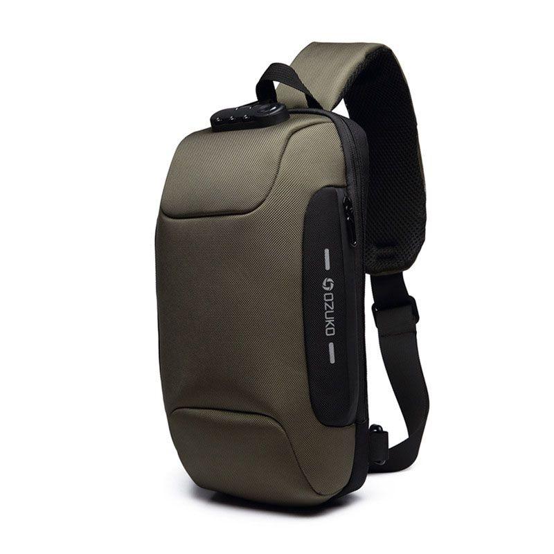 Men Casual Fashion Chest Bag Shoulder Waterproof Anti-Theft Satchel Backpack Outdoor Business Sports Shoulder Crossbody Bag