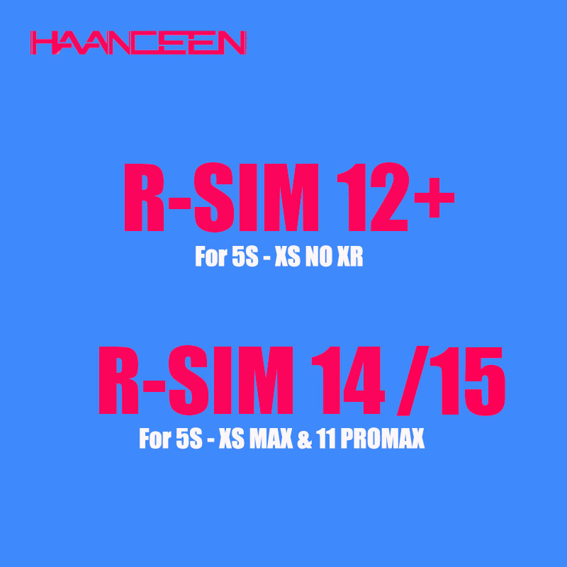 RSIM 12+ R15 Sup Smart R14 RSIM12+ Unlock SIM For IPhone 11 Pro Max/11 Pro/11 5 6 7 8Plus IOS13 Card Tool Mobile Phone Universal