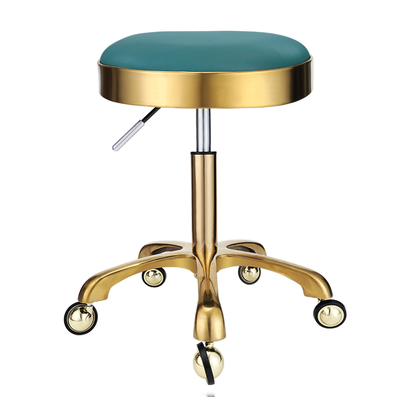 Lifting Stool Stool Explosion-proof Stool Barber Chair Work Bench Hairdressing Salon Rotating Stool Round Pulley Master Chair