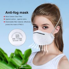 1pc Dust-Proof Anti-Fog FFP3 FFP2 FFP1 N95 Masks With Valve Dust Mouth Mask Anti Pm2.5  Face Mask For Kids Adult Filter Mask