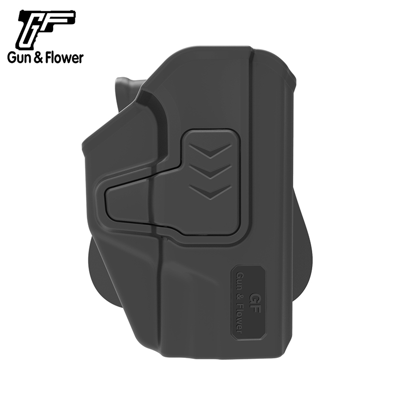 Gun&Flower Release Right Hand Polymer Holster with Paddle 9mm/.40 Pistol Holder for Taurus PT111 image