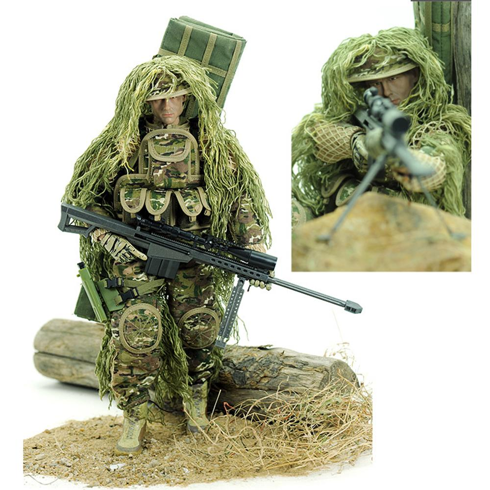 30cm 1:6 Realistic Soldier Military Action Figures Toy Gift With Movable Joint For Children Kids Gift  - All Terrain Sniper