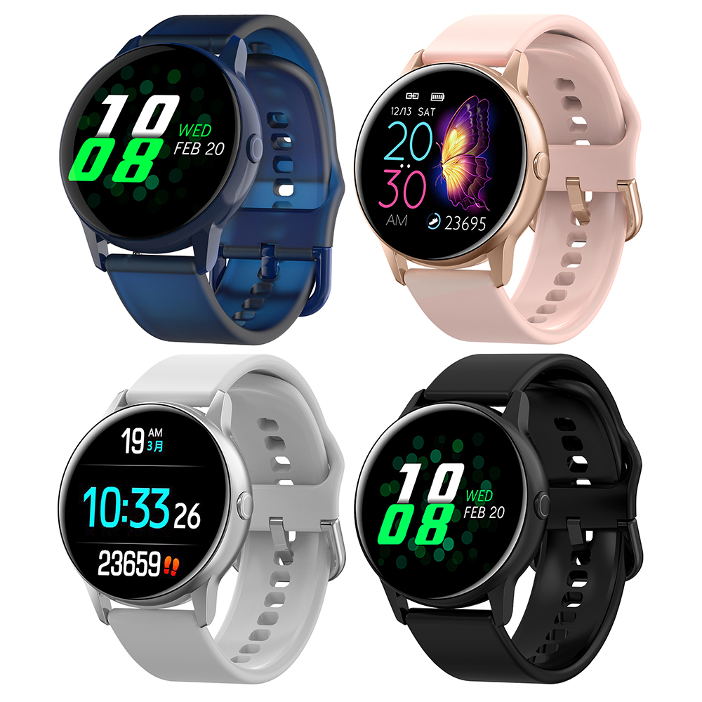 2019 Newest Adult DT88 Smart Watch Female 1.22inch Color Screen Smartwatch Heart Rate Blood Pressure Oxygen Waterproof ClocK