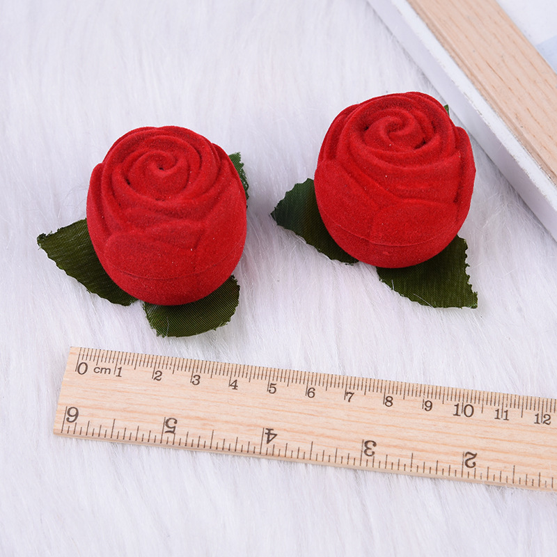 Taobao Hot Selling Cross Border Rose Jewlery Box Red Ring Ear Stud Storage Box For A Girlfriend Gift Box Wholesale