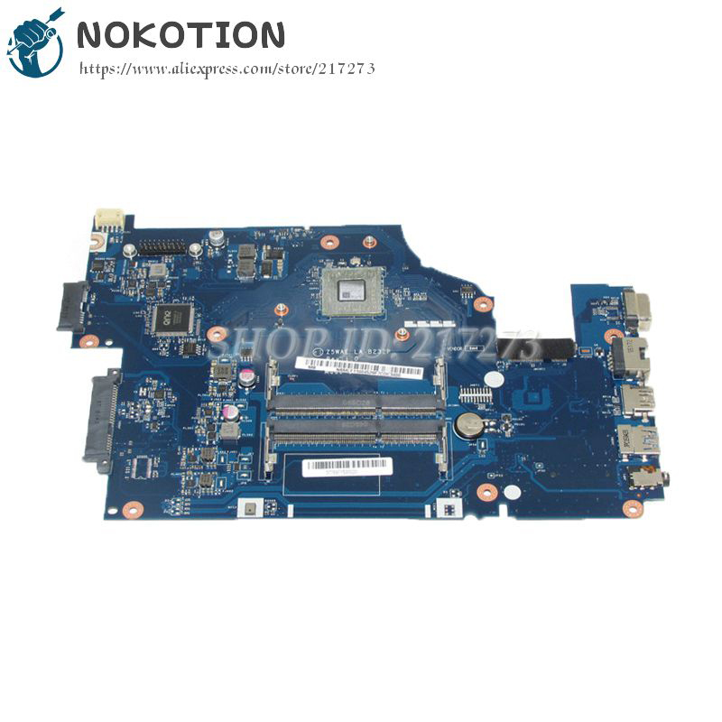 NOKOTION Z5WAE LA-B232P MAIN BOARD For Acer Aspire E5-521 Laptop Motherboard CPU Onboard DDR3 NBMLF11004 NB.MLF11.004