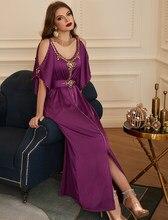 Turquía Abaya Dubai hombro Vestidos para las mujeres musulmán árabe vestido de fiesta ropa Islam Vestidos Largos traje Longue Femme