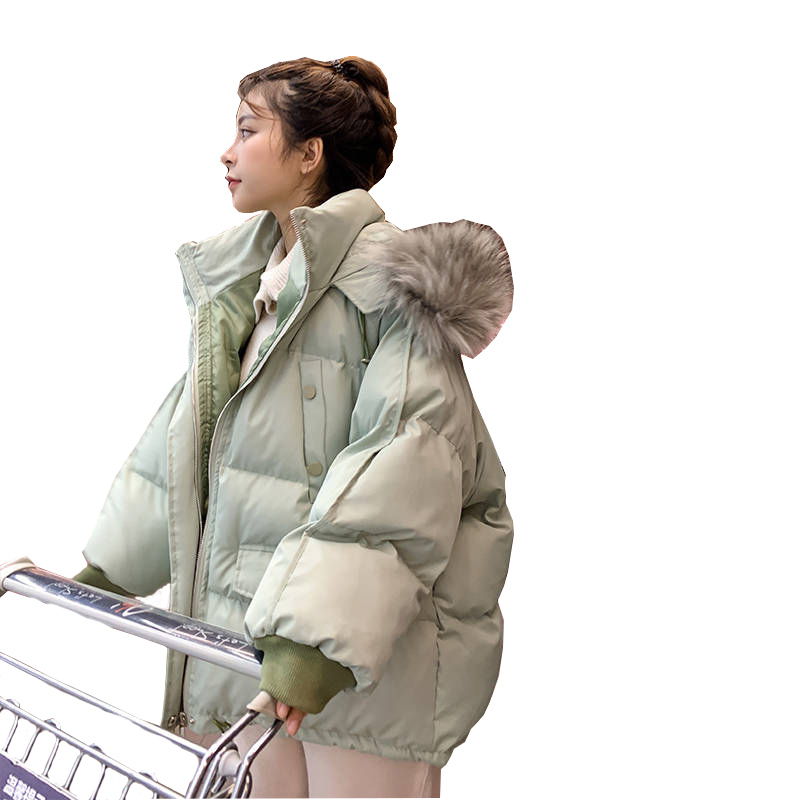 Winter Jackets Women And Casual Coats Thick Fur Collar Down Cotton Female Jacket Winter Jackets New Loose Large-size Jacket