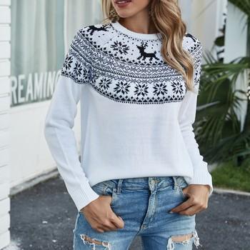 Sweter damski sweter zimowy ciepły sweter koreański sweter dzianinowy sweter świąteczny Fashion Femme tanie i dobre opinie Akrylowe CN (pochodzenie) Zima Acrylic Mieszkanie dzianiny Drukuj REGULAR O-neck Swetry Sweater Pełna NONE STANDARD Brak