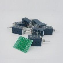1PCS יפן האלפים RK27 Quad יחידה 4 ערוצי נפח פוטנציומטר + PCB 4 כנופיה שליטת איזון יומן סוג 10K/50K/100K מחוררת פיר