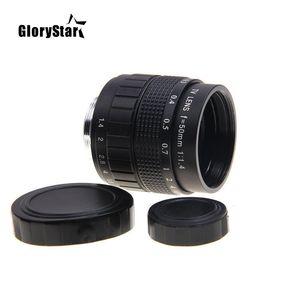 Image 4 - Объектив GloryStar 50 мм F1.4 CC для телевизора, кинообъектива, C Mount, макросъемки, кольцо для Canon EOS, EF, EFS, DSLR камеры 5D 6D, 7D, II, III, 70D, 80D, C EOS
