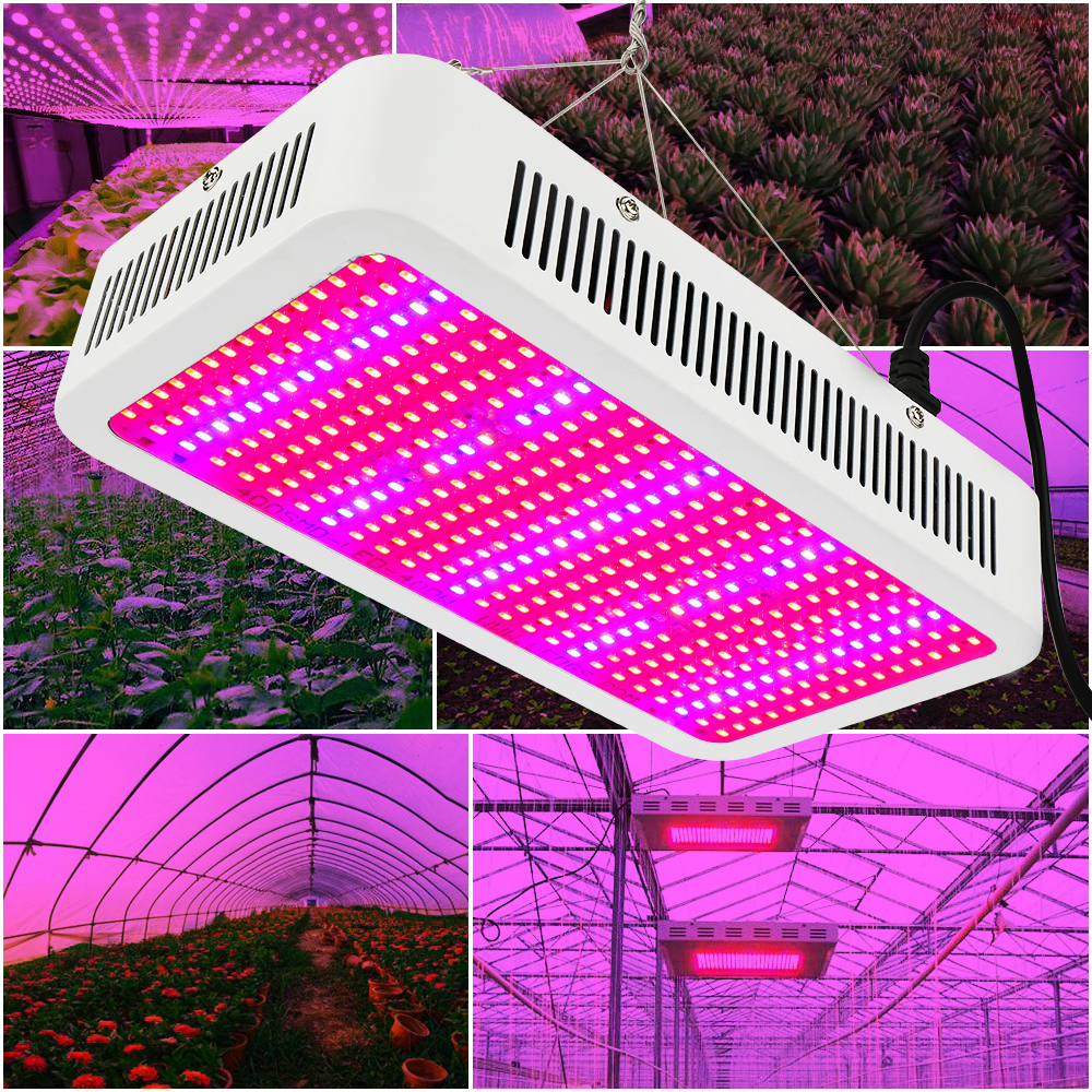 400W Plant Grow Light Full Spectrum 400LEDs Phytolamp Growth For Plants Indoor Vegs Hydroponics Growth Bloom Flower Greenhouse