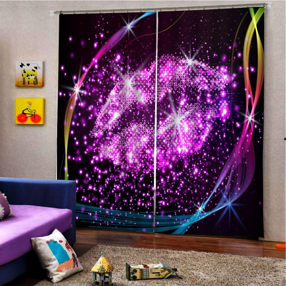 3D Luxury Curtain Blackout Modern Living Room Bedroom Curtains Prited Lips KTV Hotel Drapes Cortinas