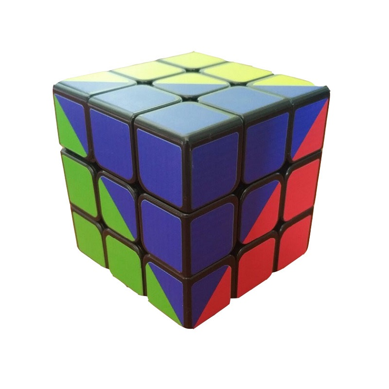 ZCUBE Colorful Sticker 3x3x3 Cube 3x3 Cubing Speed  Professional 3 Player Triangle Shape Twist Educational Kid Toys 1