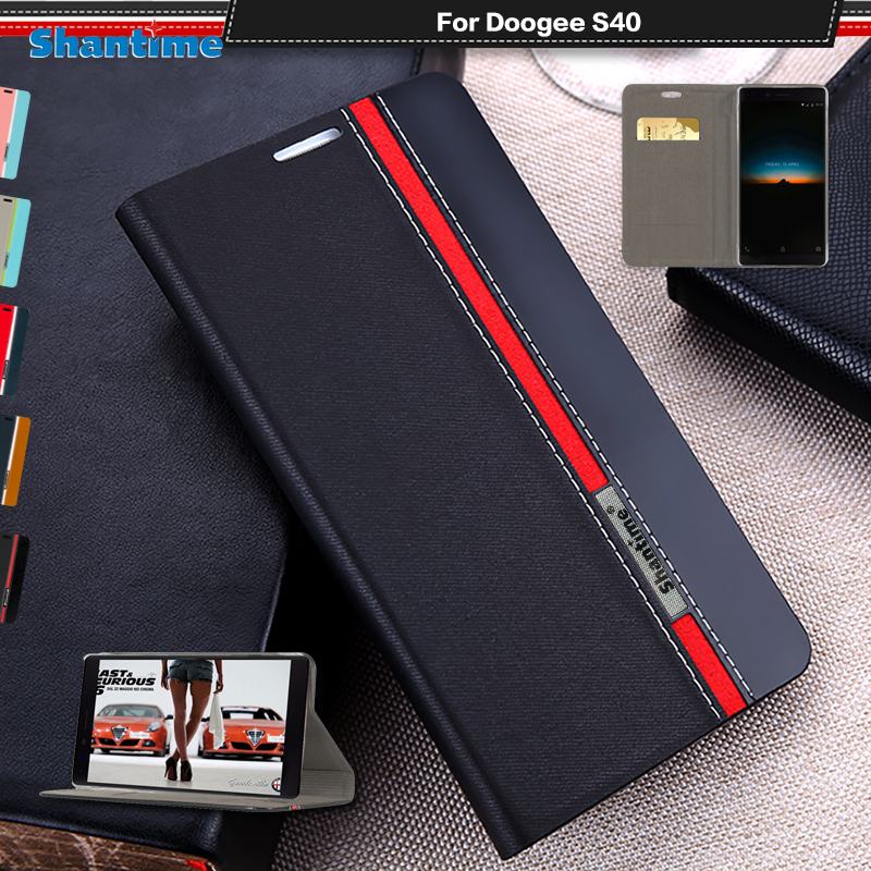 Luxury PU Leather Case For Doogee S40 Flip Case For Doogee S40 4G Phone Case Soft TPU Silicone Back Cover(China)