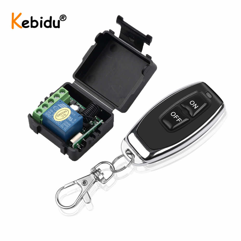 Kebidu RF 433Mhz Remote Control Transmitter With Wireless Remote Control Switch DC 12V 1CH Relay Receiver Module
