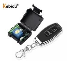 Пульт дистанционного управления Kebidu RF 433 МГц, передатчик с беспроводным дистанционным управлением, 12 В постоянного тока, 1 канальный модуль релейного приемника