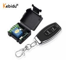 Kebidu – transmetteur avec télécommande sans fil RF 433Mhz, Module émetteur et récepteur relais, DC 12V, 1CH