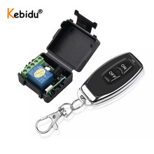 Transmetteur de télécommande Kebidu RF 433Mhz avec commutateur de télécommande sans fil Module récepteur de relais cc 12V 1CH