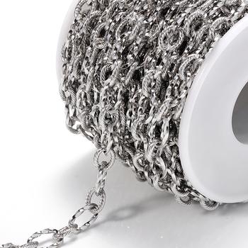 1 metrów partia naszyjnik ze stali nierdzewnej łańcuchy luzem kabel Link Chain dla Diy tworzenia biżuterii materiały luzem łańcucha hurtownia dostawca tanie i dobre opinie CN (pochodzenie) Łańcuchy 0inch Stainless Steel Chain 0 1cm Metal N0045 DIY necklace 1 Meters DIY bracelet chain link chains