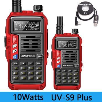 2PCS BaoFeng UV-S9 PLUS 10W/8w Powerful Walkie Talkie CB Radio Transceiver 10km Long Range Portable Radio set for hunting travel
