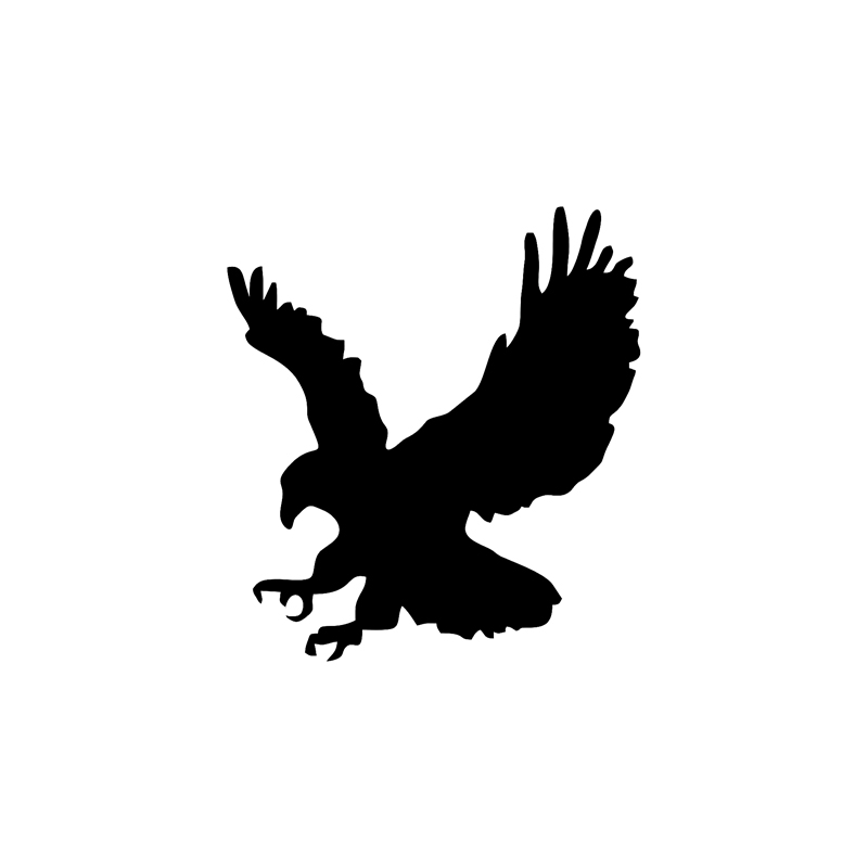 15.4*17CM Interesting Eagle Silhouette Vinyl Car Window Rear Sticker Accessories Black/Silver Decal Funny Animal Car Styling