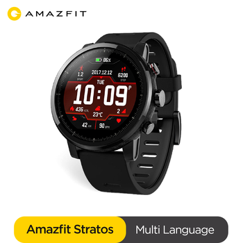 In stock Global version Amazfit Stratos Bluetooth Smartwatch GPS GLONASS Heart rate Monitor 5ATM Waterproof Smart Watch