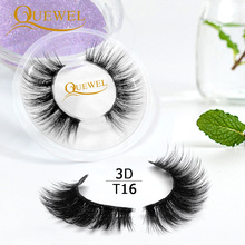 Makeup-Tool Eyelashes Transparent-Band Quewel Mink Invisible Reusable 3D Popular Thick