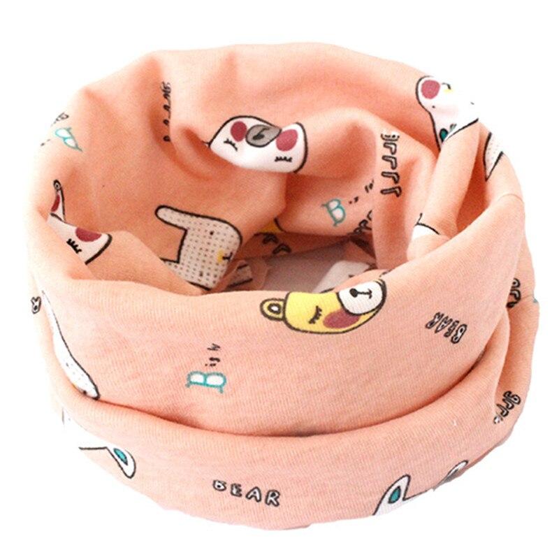 Весенний детский хлопковый шарф, теплый шарф для маленьких детей, осенне-зимние шарфы с героями мультфильмов для мальчиков и девочек, детский воротник с круглым вырезом, волшебный шейный платок - Цвет: 10