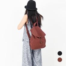 Vintage Washed Cotton Canvas Women Backpack School Bag For T