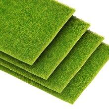 1pc 30x30cm diy mini simulação de jardim, plantas artificiais, musgo falso, decorativo, gramado, grama verde micro paisagem