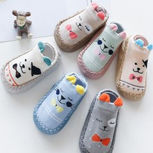 Baby Socks Boys Shoes Spring Rubber Soles Anti-Slip Infant New Born with Autumn