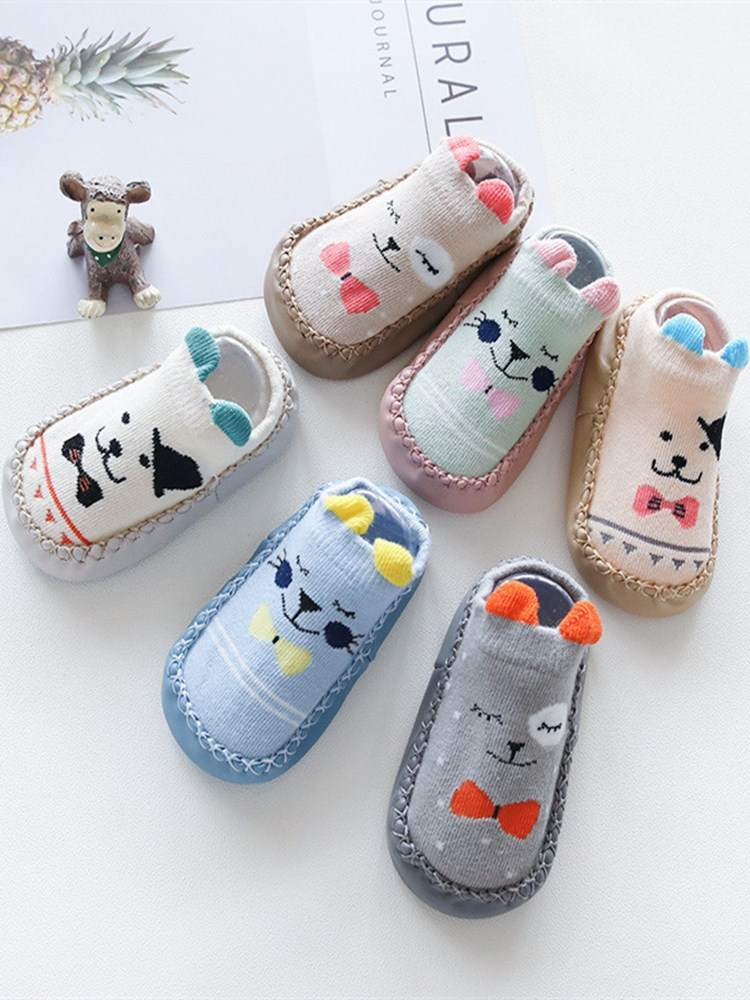 Baby Socks Shoes Spring Rubber Anti-Slip Infant Boys New Born with Autumn Soft-Sole-Sock