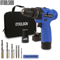 16.8V Multi function Cordless Screwdriver Electric Drill Cordless Mini Hand Drill Wireless Power Tool Set Packed With Woven Bag