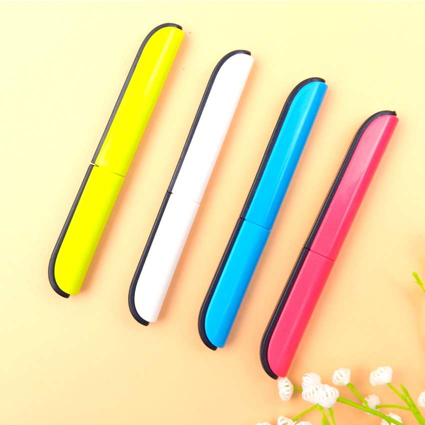 Travel Portable Scissors Creative Crafting Paper Cutting Scissors Automatic Bounce Student Office Folding Safety Scissors