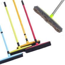 Adjustable Rubber Pet Hair Removal Broom Brush Dust Scraper Carpet Sweeper Wash Mop Telescopic Wipe Window Car Floor Cleaner