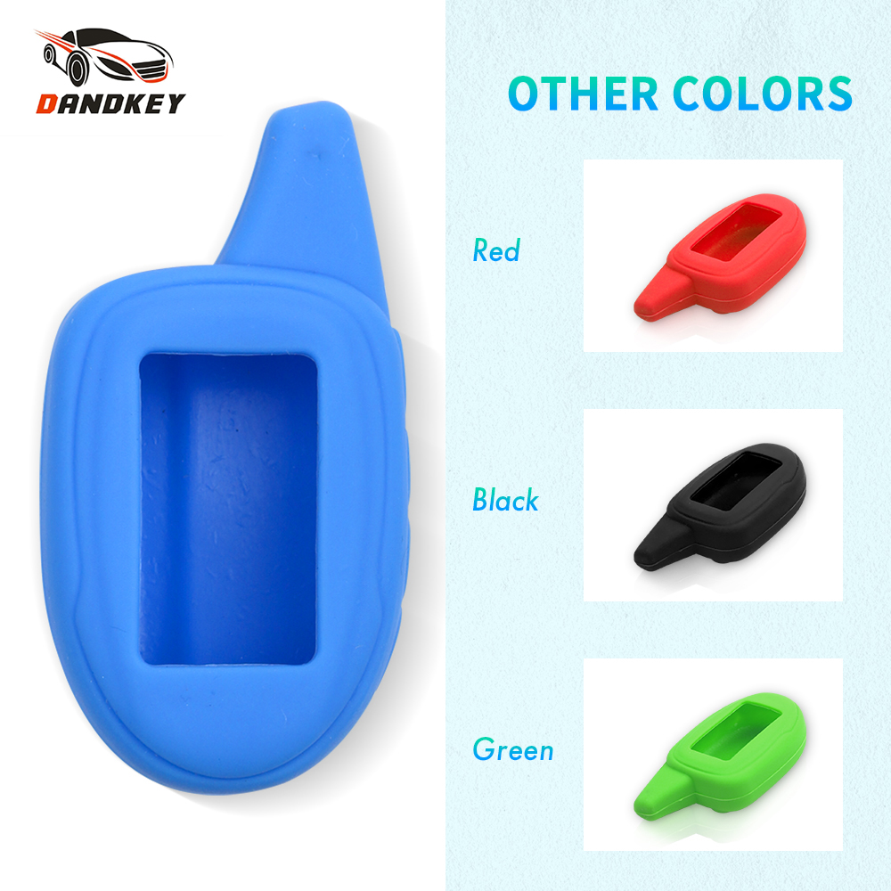 Dandkey Silicone Key Case For Russia Version Scher Khan Magicar M7 M9 Two Way Car Alarm System Keychain Remote Control Key Cover