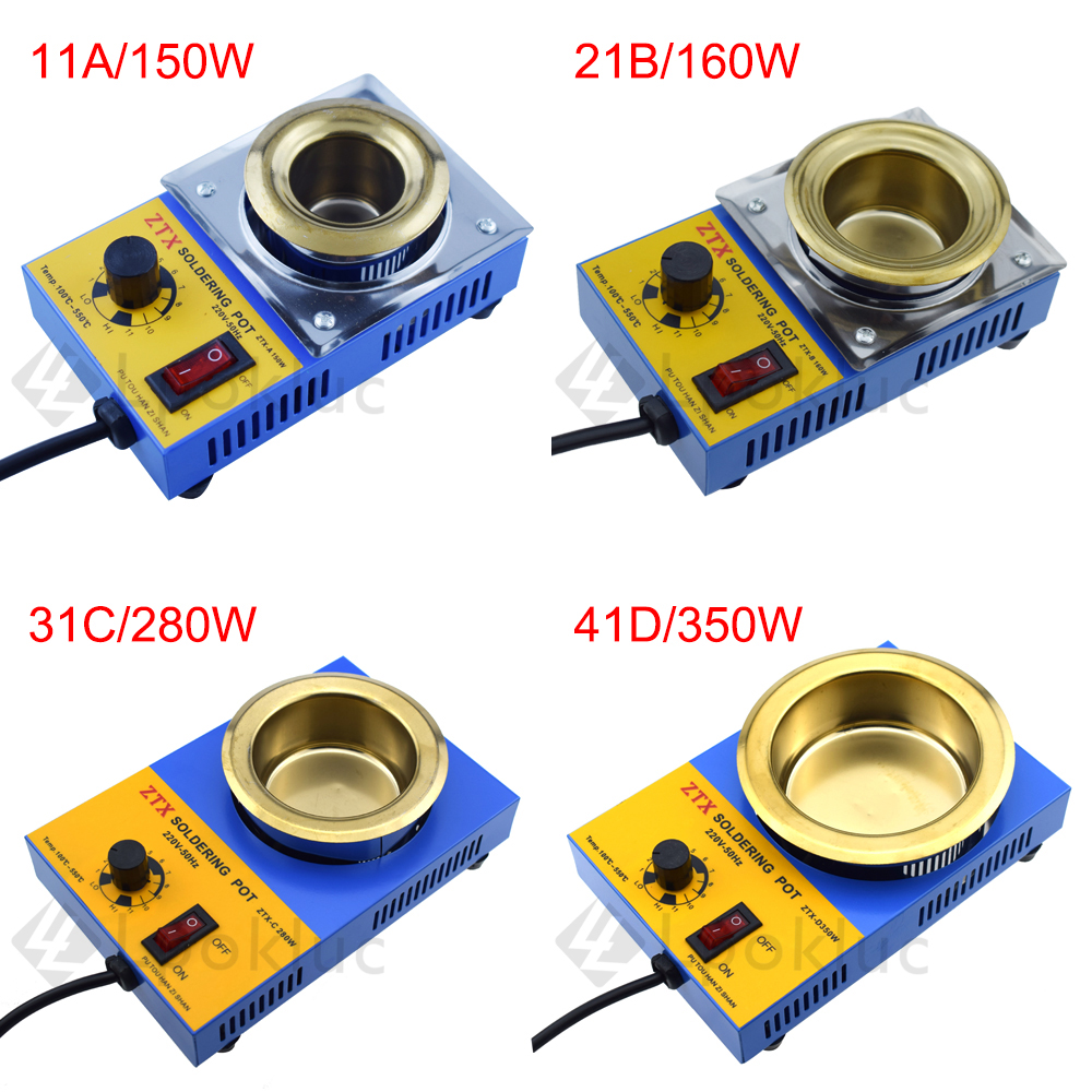 1pcs EU Plug  High Quality Temperature Controlled Soldering Pot Melting Tin Pot Tin Cans