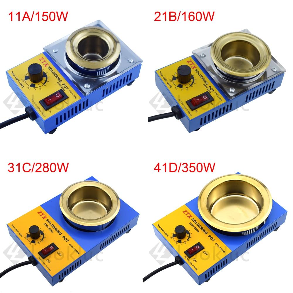 1pcs EU Plug  High Quality Temperature Controlled Soldering Pot Melting Tin Pot Tin Cans