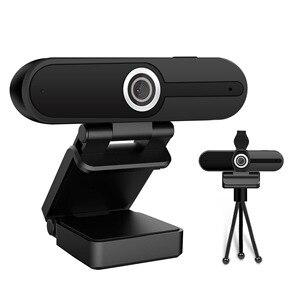 Веб-камера Full HD 1080P, компьютер, ПК, веб-камера с микрофоном, вращающиеся камеры для прямого вещания, видеозвонков, конференции, работы