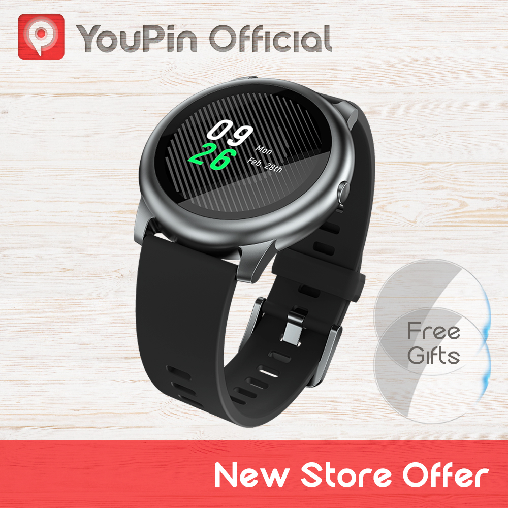 YouPin Haylou Solar Smart Watch LS05 Sport Metal Heart Rate Sleep Monitor IP68 Waterproof iOS Android Global Version for Xiaomi(China)