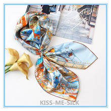 Kms legend of pegasus shawl twill silk square scarf mulberry
