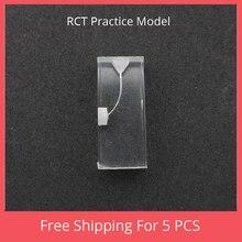 1:1 Стоматологическая RCT Практика Модель прозрачный блок Эндодонтическое лечение роторные Файлы Инструменты практика зуб