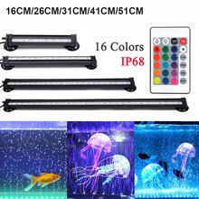 Aquarium-Light Remote-Control-Lamp Fish-Tank Waterproof 5050 RGB LED 16-51cm D30