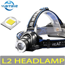 10000LM Led Headlamp L2/T6 Zoomable Headlight Powerful Head lamp For Caming Fishing Head Torch Flashlight By 2*18650 Battery