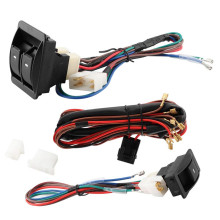 Car Universal Electric Power Door Window Master Control Switch With Wiring Harness Kits 12V/24V