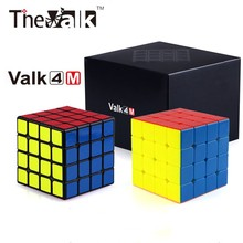 Toys Magnet Magico-Valk Qiyi Valk4m Speed-Cube Puzzle Cubo 4x4x4 Children Strong