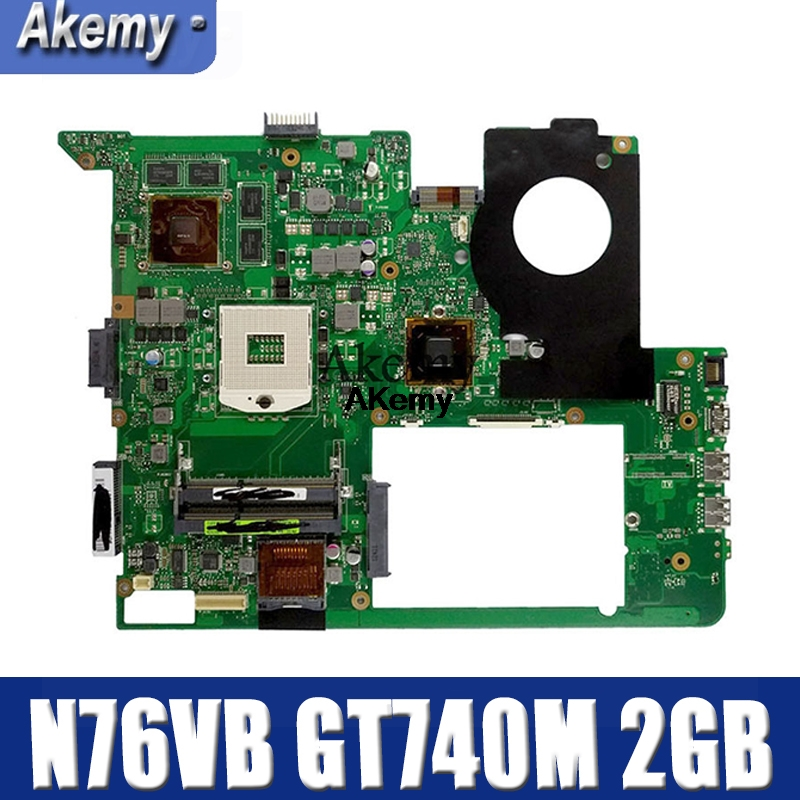 Amazoon N76VB Laptop Motherboard For ASUS N76VZ N76VM N76VJ N76V Test Original Mainboard GT740M 2GB HM70