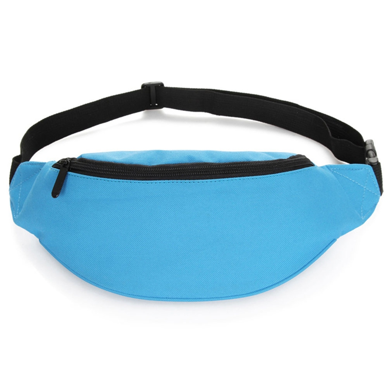 1 PC Solid Color Waist Bag Women Men Fashion Outdoor Sports Pockets Men Women Casual Chest Bag Nylon Shoulder Belt Bag Dropship