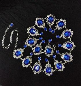 Image 4 - Nuevos trajes de danza del vientre sexy para personas mayores, cinturón de baile del vientre con piedras de color para mujer, pañuelo de la cadera para bailar el vientre