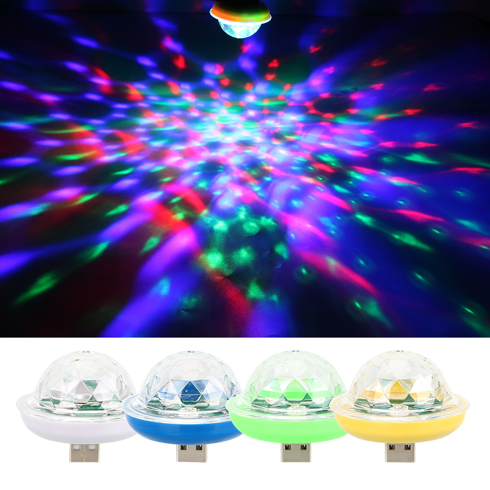 ITimo UFO Shape Color Change Disco DJ Stage Lighting Mini USB LED Stage Lamp Party Decoration Colorful Neon Light